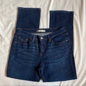 Levi's 505 Straight Dark Wash Denim Jeans size 8